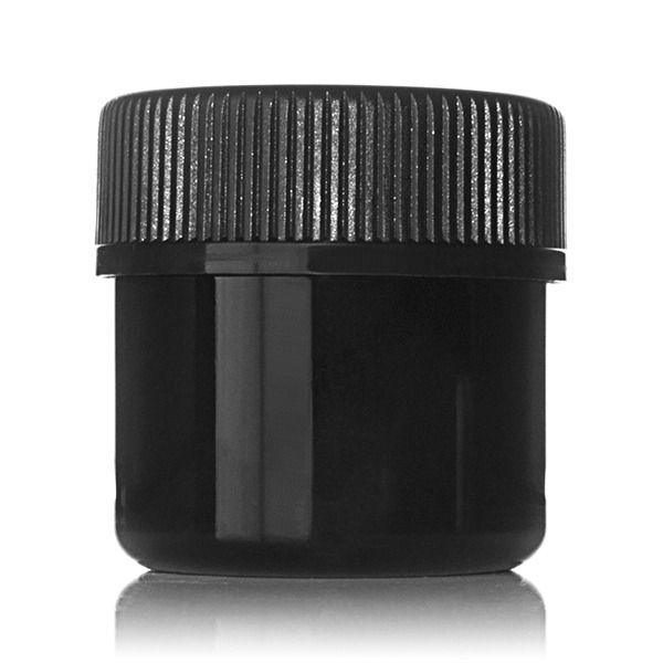 1oz (30ml) Black PET Wide Mouth Straight-Sided Jar - 38-400 Neck