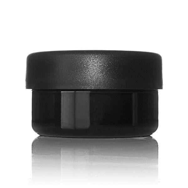 2oz (60ml) Black PET Wide Mouth Squat Jar - 58-400 Neck