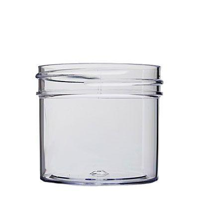 2oz (60ml) Clear PS Straight-Sided Round Plastic Jar - 53-400 Neck