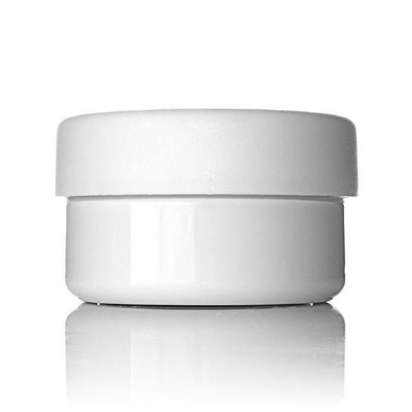 2oz (60ml) White PET Wide Mouth Squat Jar - 58-400 Neck