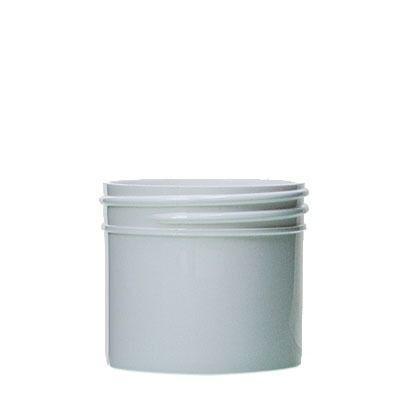 2oz (60ml) White PP Straight-Sided Round Plastic Jar - 53-400 Neck