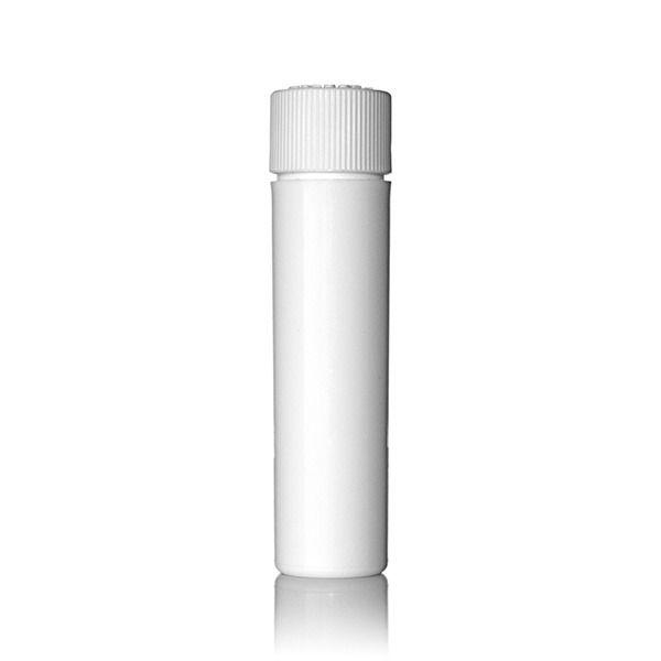 16mm White PP Vape Cartridge Vial With PP Push Down and Turn Child-Resistant Closure (CRC)