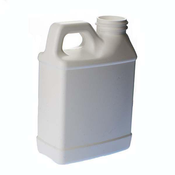 8oz (240ml) White HDPE F-Style with Handle Rectangular Plastic Bottle - 28-400 Neck